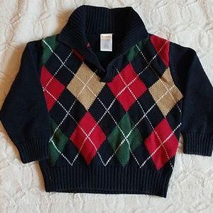 EUC Gymboree Argyle Sweater